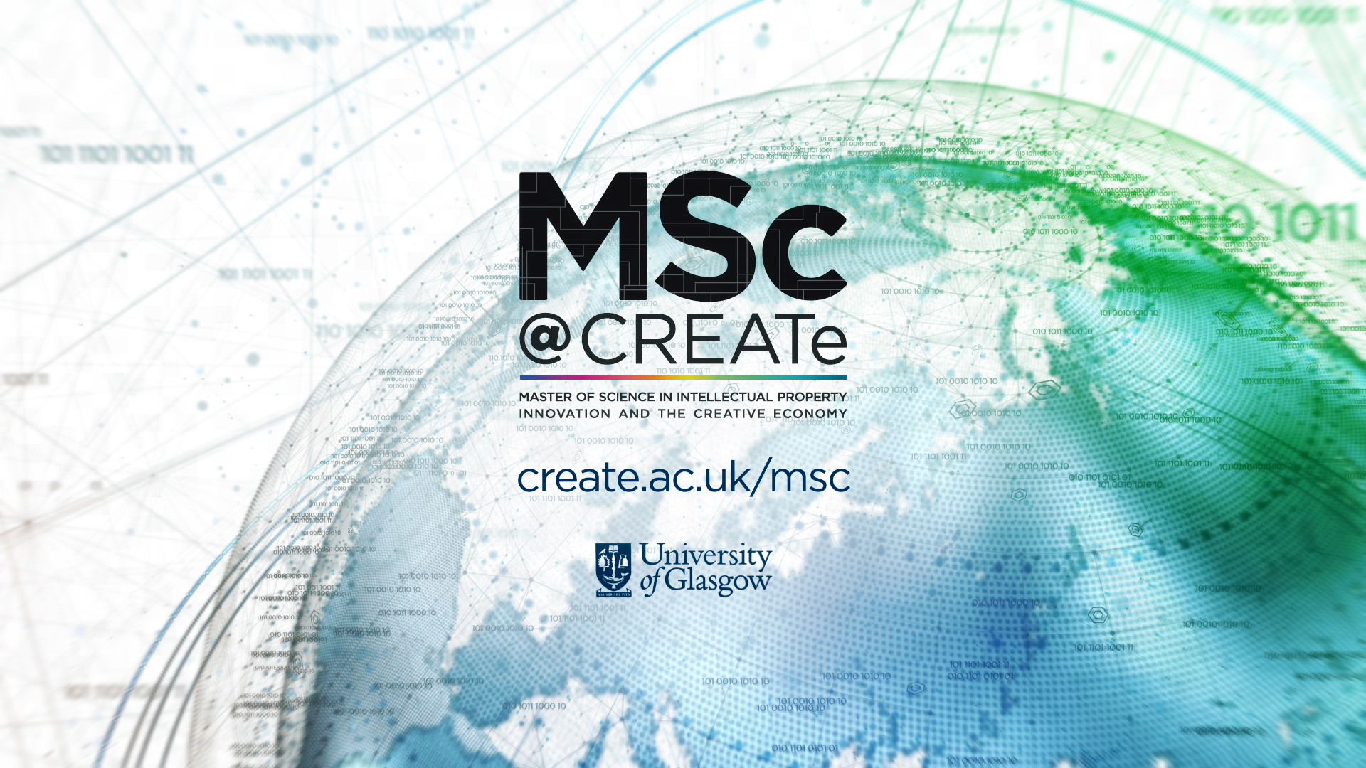 MSc@CREATe Video Promo